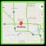 Map of Phoenix Arizona